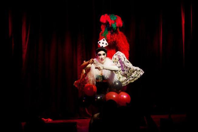 Kitty Bang Bang performing at the Hippodrome Casino.