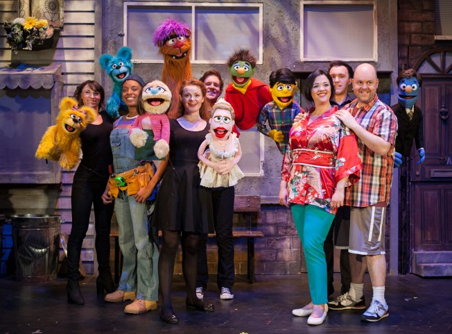 The cast of Avenue Q. Darren Bell